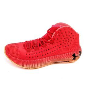 Under Armour Mens 9 UA HOVR Havoc Basketball Shoes Red Orange Sneakers